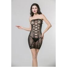 Ажурное платье-сетка с кружевными вставками SL (42-46)