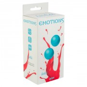 Вагинальные шарики без сцепки Emotions Lexy Large turquoise (3 см, голубые)