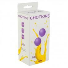 Вагинальные шарики без сцепки Emotions Lexy Medium purple, (2,8 см, фиолетовые)