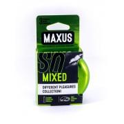 Презервативы MAXUS Mixed в железном кейсе 3 шт.