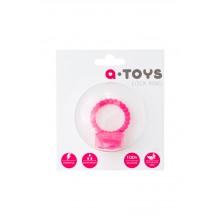 Виброкольцо  с клиторальным стимулятором A-Toys (розовый)