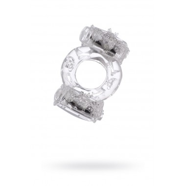 Виброкольцо прозрачное для двойной стимуляции