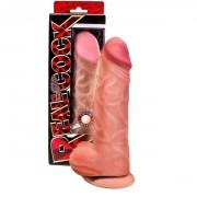 Гигантский фаллос на присоске Real Cock  , вторая кожа (27 см , телесный)
