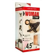 Двойной страпон для женщин, с насадкой 4,5 дюймов