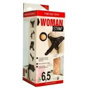 Двойной страпон для женщин, с насадкой 6.5 дюймов (черный)