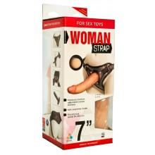 Двойной страпон для женщин, с насадкой 7 дюймов