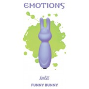 Мини-стимулятор с ушками Funny Bunny (8,5 см , сиреневый)