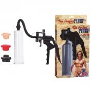 Помпа поршневая с насадками The Perfect Pump (прозрачный с черным, цветные насадки )