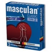 Презервативы Masculan тип 2 (с пупырышками ,  3 шт)