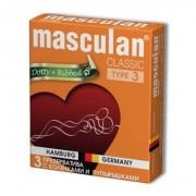 Презервативы Masculan тип 3 (с колечками и пупырышками ,  3 шт )