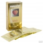 Презервативы Masculan тип 5  с ароматом ванили (золотого цвета , 10 шт.)