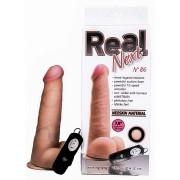 Реалистичный вибратор Real Next 7,8'' № 86 , вторая кожа, 12 режимов (20,5 см , телесный )