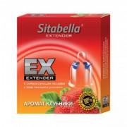 """Стимулирующий презерватив-насадка с эластичными усиками Sitabella Extender """"Клубника"""""""