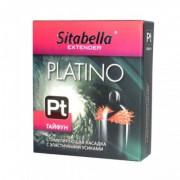 "Стимулирующий презерватив-насадка с эластичными усиками Sitabella Extender Platino ""Тайфун"""