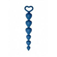 Анальная цепочка Heart Ray (кобальт)