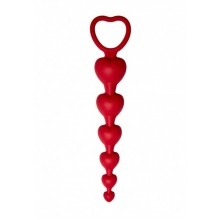 Анальная цепочка Love Beam (бордовый)