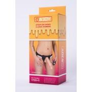 Страпон с реалистичной насадкой и вибрацией Onjoy Stap-on Unisex Classic Harness, Big Trouble (10 режимов)