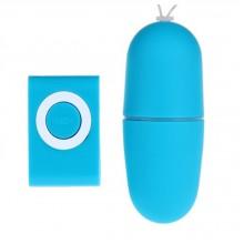 Вибро яйцо с дистанционным пультом управления Vibrating Eggs Remote Control mp3 (голубой)