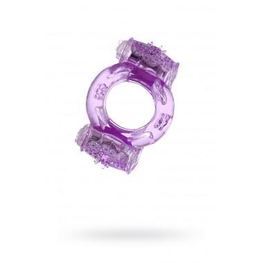 Эрекционное кольцо на пенис с двойной вибрацией Toyfa (фиолетовый)