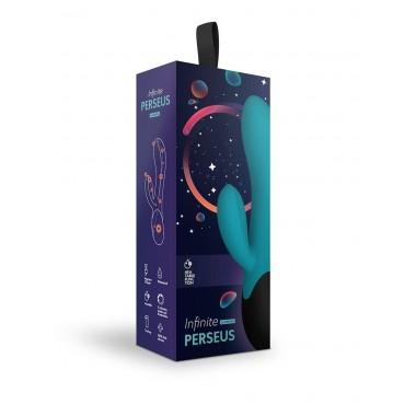 Нагреваемый вибратор с клиторальным отростком Perseus (морская волна)