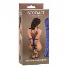 Веревка для связывания Bondage Rope Blue (3 м, синий )