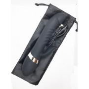 Супер-мощный женский пульсатор Kyleigh Vibrating Rod black (черный)
